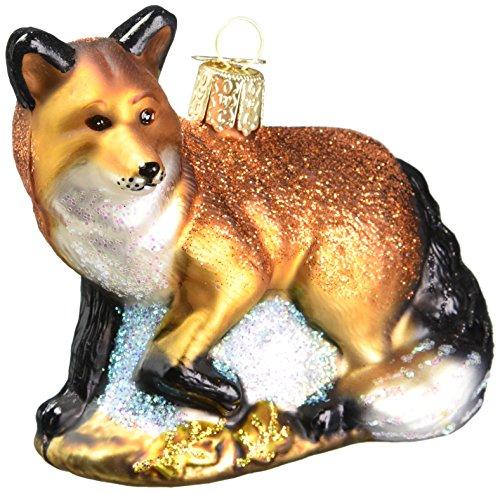 Old World Christbaumschmuck: Roter Fuchs aus Glas, geblasen