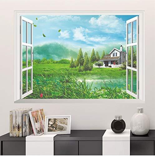 Haipeiy adesivo murale per vetrofania 3d cartone animato foresta verde oggettistica per la casa esotico decorazione di spiaggia carta da parati artistica decorazione murale