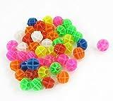 46 Pcs Colorful Plastic Clip Spoke Bead Bicycle Ornament for Bike