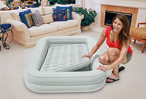 Intex 12-66810NP Kidz Travel Bed Set, phthalates-free mit Handpumpe, 107 x 168 x 25 cm (Mint Grün) - 5