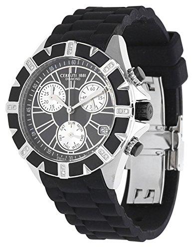 Cerruti Femmes Montre Diamond Watch Chronograph Noir CCRWDM031V224Q