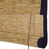 GDMING-Tenda di bambù Cieco Romano Avvolgibile Cortina di bambù A Prova di umidità Anti Corrosivo Facile da Usare Durevole 3 Stili Personalizzazione Multi-Size (Color : C, Size : 90x220cm)