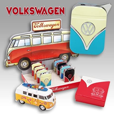 VW Volkswagen Camper VAN Two Tone Gas Lighter With VW Motiff