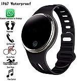 Elektronisches Armband E07 Wasserdichtes Bluetooth 4.0 Smart Armband Fitness Tracker Schrittzähler Smart Watch Band Für IOS & Android Elektronisches Armband (Farbe : Black)
