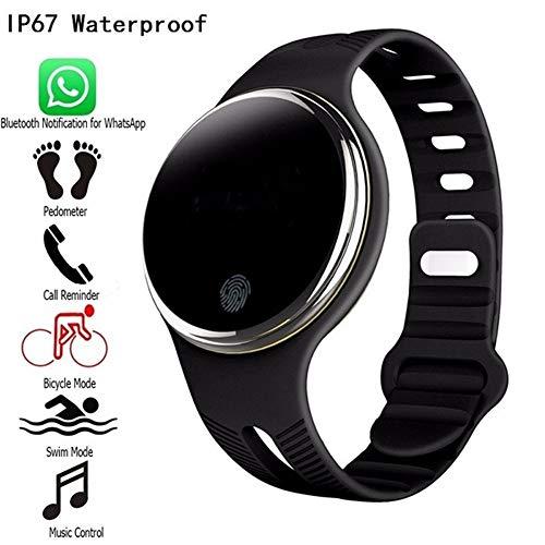 FUNXS E07 wasserdicht Bluetooth 4.0 Smart Armband Fitness Tracker Schrittzähler Smart Watch Band für iOS & Android Übungs-Tracker (Farbe : Black) Wrestling Warm Ups