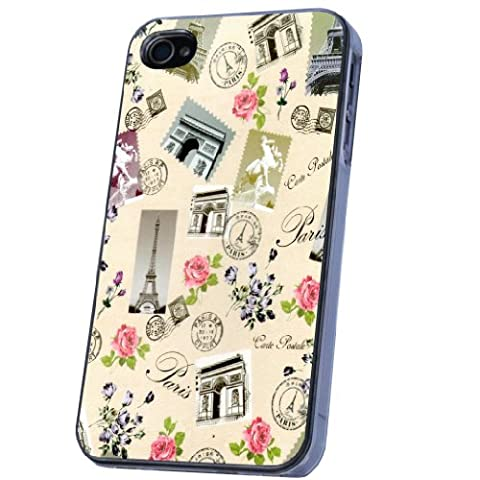 Vintage Style Shabby Chic Eiffel Tower French Coque iPhone 44S