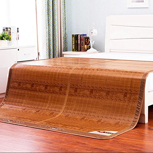 Materasso Fresco Liangxi stuoia di bambù su Due Lati stuoia di bambù 8m Letto può Essere Piegato Liangxi dormitorio Singolo Matrimoniale 1,5 Metri Stuoia di bambù Fredda (Dimensioni : 1.5m)