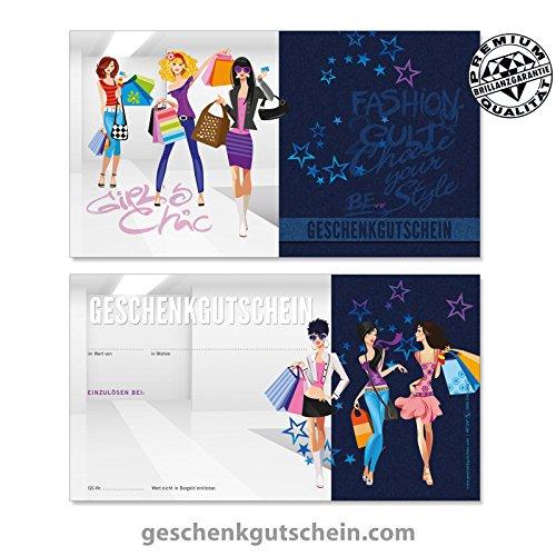 100 Stk. Geschenkgutscheine für Mode, Bekleidung, Fashion, Boutiquen FA1247 (Bekleidung Geschenkgutscheine)