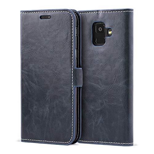 Mulbess Schutzhülle Ledertasche im Kartenfach Bookstyle für Samsung Galaxy A6 2018 (5,6 Zoll)...