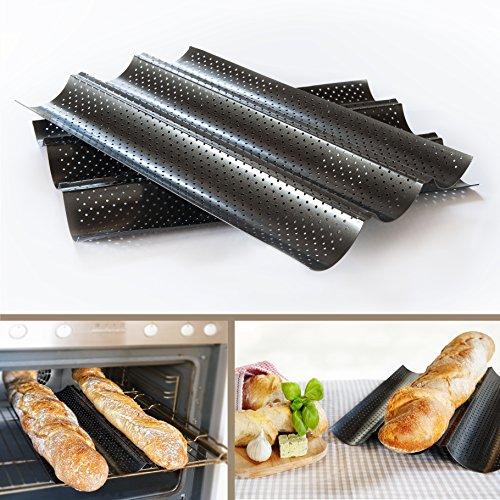 Baguette-Blech Baguette backen mit perforierten Backblech mit Antihaft-Beschichtung Ofenblech