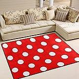 ingbags Super Soft Moderne Rot und weiß Polka Dot pattren, ein Wohnzimmer Teppiche Teppich Schlafzimmer Teppich für Kinder Play massiv Home Decorator Boden Teppich und Teppiche 160x 121,9cm, multi, 80 x 58 Inch