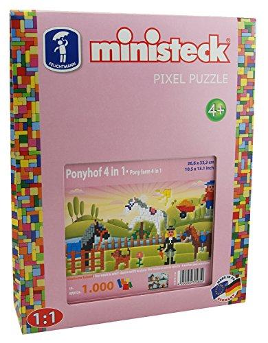 Ministeck 31585-Pony Hofmeister 4en 1, steckplatte, Accesorios, Aprox. de 1000Piezas
