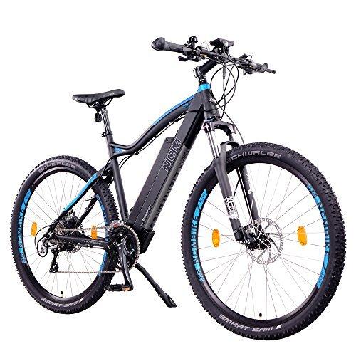 "NCM Moscow+ 48V, 27,5"" / 29"" Zoll E-MTB, Mountainbike E-Bike, 250W Das-Kit Heckmotor, 14Ah 672Wh Akku + Panasonic Li-Ion Zellen, hydraulische Tektro Scheibenbremsen, 24 Gang Shimano Gangschaltung"