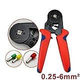 HSC8 6-4 0.25-6mm² AWG23-10 Einstellen Ratschen Zwinge Crimper Zange Crimpzange Aderendhülsen Draht Ende Schnurende Nase Rot