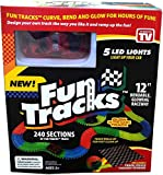 Fun Tracks Car Race Track That Bend, Flex and Glow