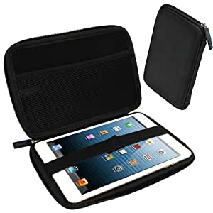 iGadgitz Black EVA Zipper Travel Hard Case Cover Sleeve for Apple iPad Mini 1st, 2nd Generation with Retina & New iPad Mini 3