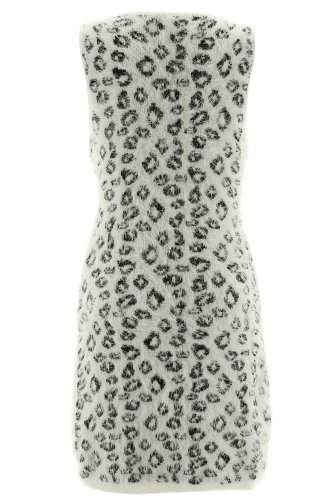 Shikha London Strickkleid LEO KNIT DRESS 3918 White