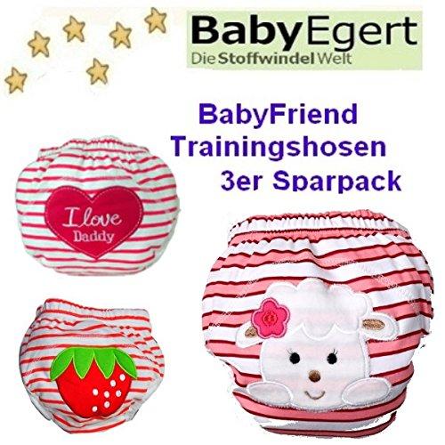 BABYFRIEND ** 1er, 2er, 3er oder 4er SPARPACK ** Waschbare Lernwindel zum Sauberwerden -- für 10-14kg -- Trainers / TrainerHosen / Unterhosen (entspricht ca. Gr. 80/86/92/98/104) (3 x Trainer im Sparpack, Mädchen / Pack 5)
