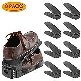 Schuhstapler / Schuhhalter - 8er Set Schuh Slots Verstellbare Schuheorganizer...