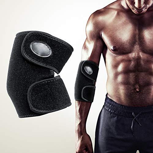 Queta Ellenbogenbandage, Atmungsaktiv Ellenbogenschoner mit Einstellbare Klettverschluss, Sport Fitness Ellenbogen Unterstützung für Damen und Herren (Richtig)