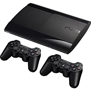 PlayStation 3 – Konsole Super Slim 12 GB (inkl. 2 x DualShock 3 Wireless Controller)