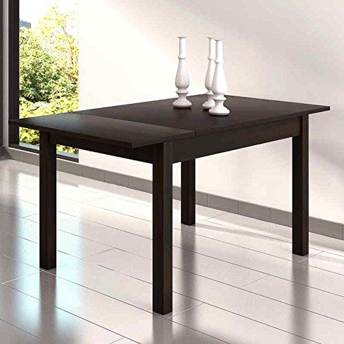 Mesa de comedor o salon extensible en color wengue 122x80 cm