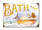 "Sketchfab ""Bath"" Wall Sign (Wooden, 30 cm x 20 cm)"
