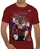 Stylotex Slimfit Fashion T-Shirt So sehn Sieger aus Guy Croatia Hrvatska Kroatien, Farbe:rot;Größe:XL
