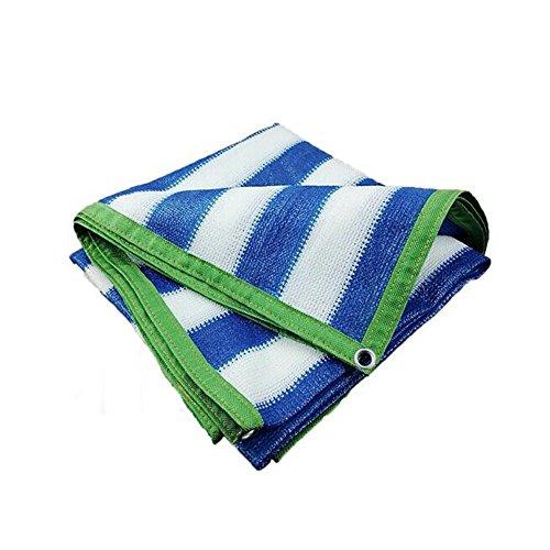 DUO Voiles d'ombrage 85% ombre de Sun protégeant les couvertures extérieures d'auvent de jardin de pelouse de patio de beaucoup de tailles (Couleur : Blue, taille : 4×8M)