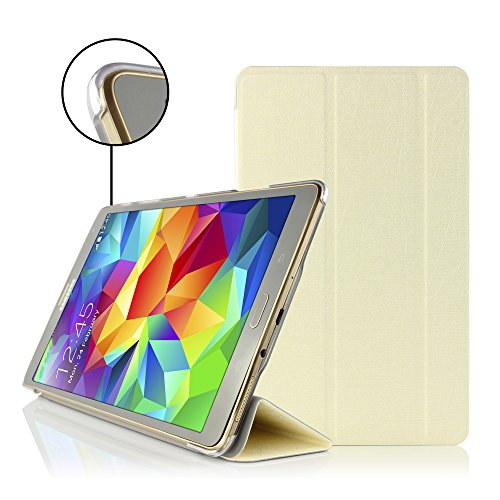 Urcover® Smart Case kompatibel mit Samsung Galaxy Tab S 8.4 Hülle Sleeve Tasche [ Sleep/Wake & Stand-Funktion ] Flip Cover Schutzhülle Portfolio Weiß