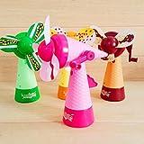 NINGSUN_Casa Ningsun Portatile Giocattoli per bambini Mano manuale Mini ventilatore Handheld No batteria Operato per il raffreddamento Comodo vento naturale (Colore casuale) (1pc, Colore casuale)