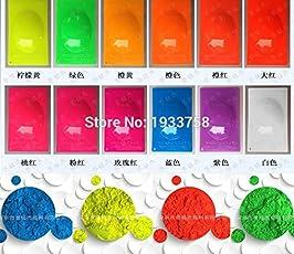 Veena 10G Fluorescent Powder Pigment For Paint Printing Soap Neon Powder Nail Art Polish Blue