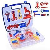 BANDRA Arztkoffer Doktor Spielzeug mit Arztköfferchen Rollenspiele für Kinder kleine Jungen Mädchen 3+ Blau