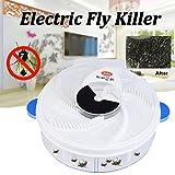 Voberry USB wiederaufladbarer Fliegen-Falle-Fliegen-Fänger, elektrisches Fliegen-Falle-Gerät mit Dem Einfangen von Nahrung Fliegenschnäpper-Artefakt (Blau)