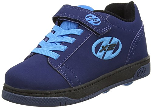Heelys X2 Dual Up Zapatillas, Niños, Azul (Navy/New Blue), 33 EU (1 UK)