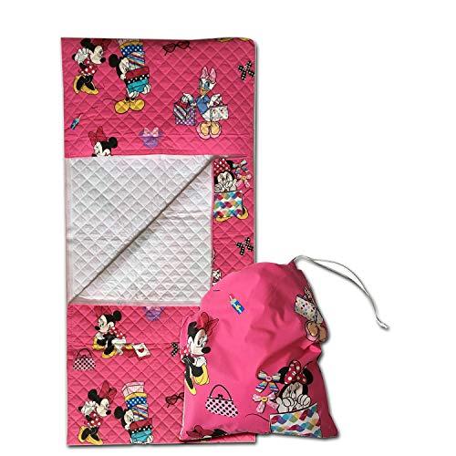 Set asilo - disney - minnie e daisy - sacco nanna + sacchetto asilo - per bimbi da 2 a 6 anni