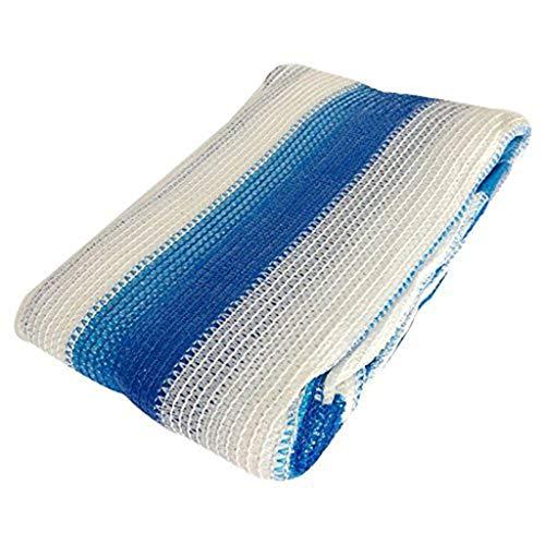 LAOSUNJIA Filet d'ombrage épaississant extérieur pour Parasol en polyéthylène Haute densité (Couleur : Blue White, Taille : 3M*3M)