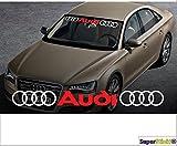 Ringe-Audi-Ringe 90 cm 2 farbig Aufkleber Aufkleber Autoaufkleber Tuningaufkleber von SUPERSTICKI® aus Hochleistungsfolie für alle glatten Flächen UV und Waschanlagenfest Tuning Profi Qualität Auto KFZ Scheibe Lack Profi-Qualität Tuning