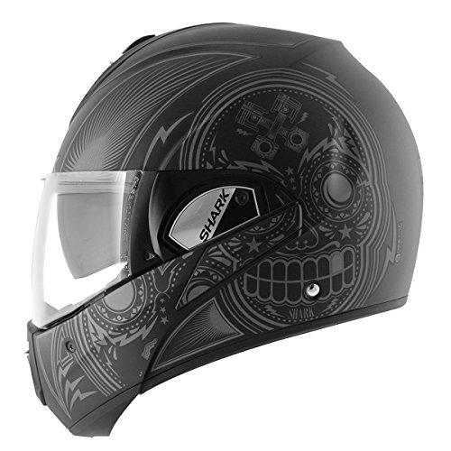 Evoline de tiburón de S3 Mezcal motocicletas compatible con los modelos de casas y árboles para moto con tapa para casco de bicicleta