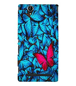 Colourful Butterfly Designer Back Case Cover for Sony Xperia T2 Ultra::Sony Xperia T2 Ultra Dual