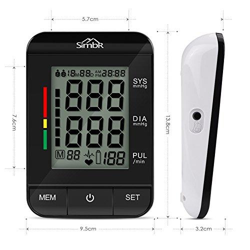 SIMBR Oberarm-Blutdruckmessgerät Vollautomatisch mit Hintergrundbeleuchtung 180 Speicherplätze für Zwei Benutzer Höher Genäuigkeit - 2