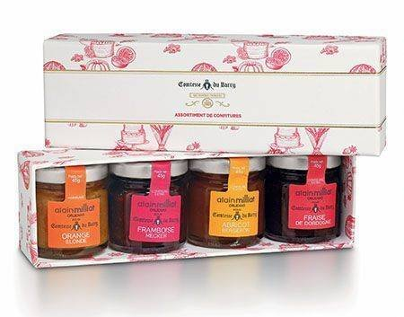 Gourmand-Set: Auswahl von erlesenen Konfitüren und Marmeladen von den besten Früchten aus den französischen Regionen - 4x 45g
