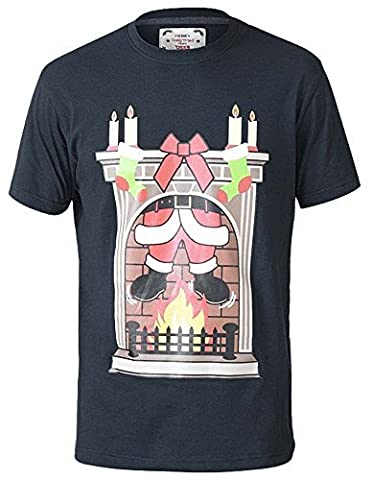 Herren Weihnachten T-Shirt D555 Duke groß king-size Weihnachten Elfen klimpern Glocken NEUHEIT TOP - dunkelgrau - chimneybig, (Große Weihnachts-elfen)
