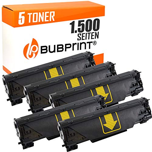 5 Bubprint Toner kompatibel für HP CF283A 83A für LaserJet Pro MFP M125a M125nw M126a M126nw M127fn M127fs M127fw M128fn M128fw M201dw M201n M225dn M225dw M226dn M226dw Schwarz