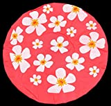 Duschhaube Leucht-Pink Shower Cap Blumen-Motiv