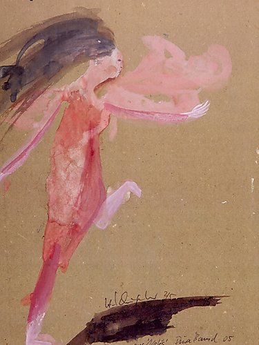 nefes  2005  Tanztheater Pina Bausch  Aquarell 1000 Teile Puzzle hoch