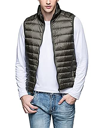 Zhuikun Mens Lightweight Down Puffer Gilet Sleeveless