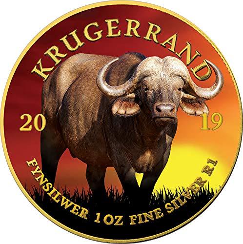 Power Coin Buffalo Büffel Krugerrand Big Five 1 Oz Silber Münze 1 Rand South Africa 2019 -