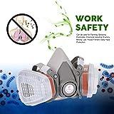 Berufshalbe Gesichtsmaske-Gas-Respirator-Filter für das Malen von Sprüharbeit Sicherheitsmasken verhindern organisches Dampf-Gas, grau