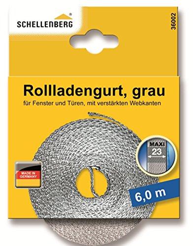 Schellenberg 36002 Rollladengurt 23 mm/6.0 m, grau